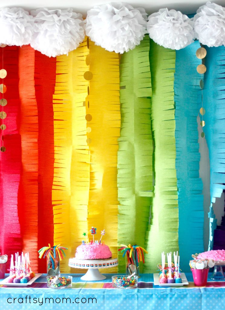 Rainbow Themed 3rd Birthday Party Craftsy Mom